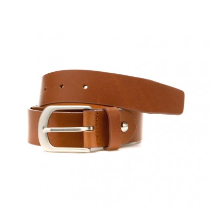 Italy Vegetable Leather Belt - brown