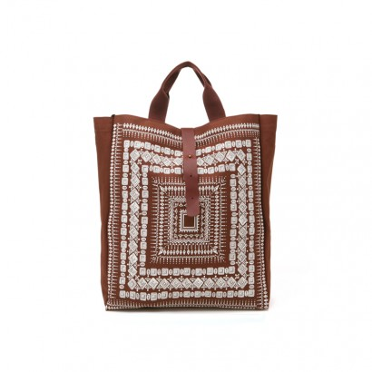 Square Ethnic Bag - brown