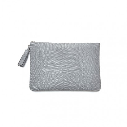 Lizard clutch - gray