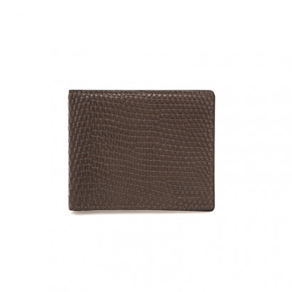 Lizard half wallet -  brown