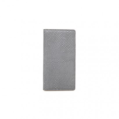 Lizard long wallet -  gray