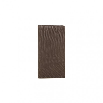 Lizard long wallet -  brown