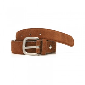 Suede Leather Belt - brown