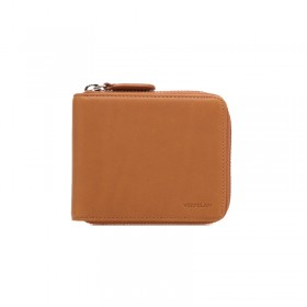 Pull up Leather Zipper Wallet (brown)