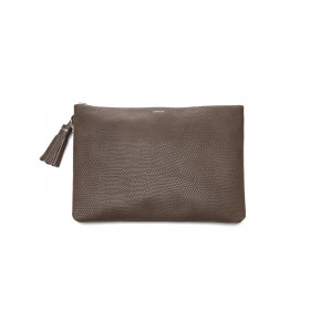 Lizard clutch - brown