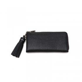 Lizard zip long wallet -  black
