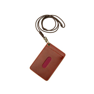 Oil Pull Up Leather CardHolder - brown
