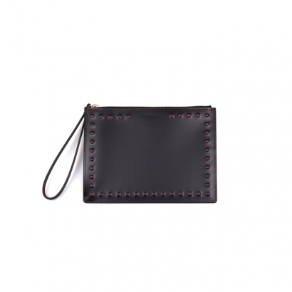 Stud Mini Clutch - burgundy