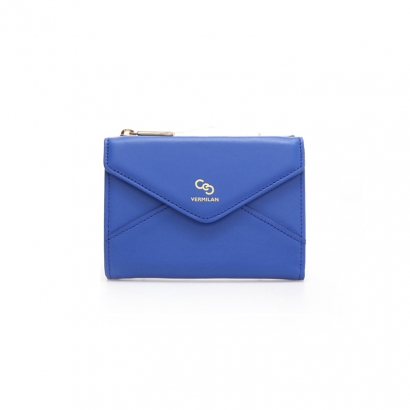 Letter Middle Wallet - blue