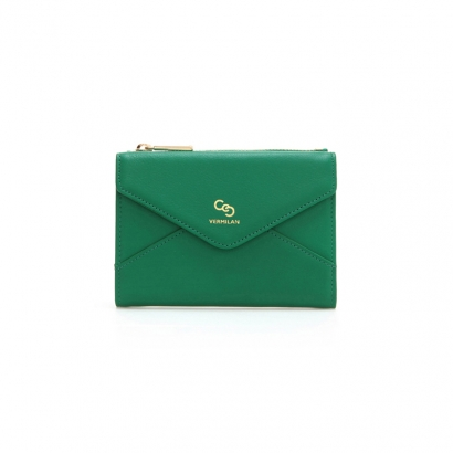 Letter Middle Wallet - emerald green