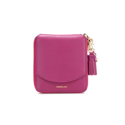 pocket zip around wallet - purple