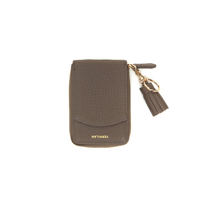 POCKET CARD WALLET - TAUPE