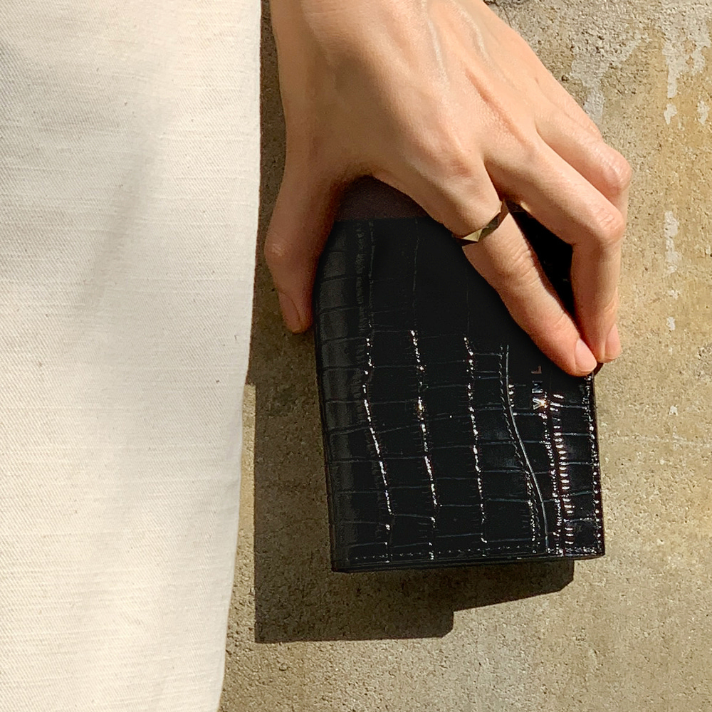 CURVE CARD WALLET - CITY BLACK