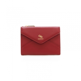 Letter Middle Wallet - red