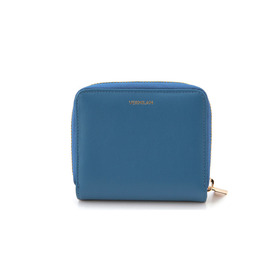 NAPPA Leather Zip Half Wallet - blue