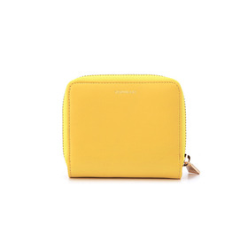 NAPPA Leatehr Zip Half Wallet - yellow